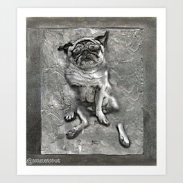 Pug in Carbonite Art Print