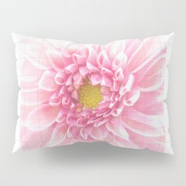 EUCLID pretty bright petal pink pixelated flower with graph detail Pillow Sham