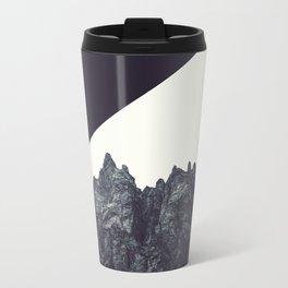 Modern Black and White Rock Art Travel Mug