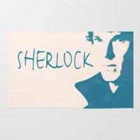 sherlock Area & Throw Rugs featuring Sherlock by Sunli