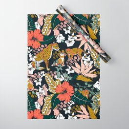 Animal print dark jungle Wrapping Paper