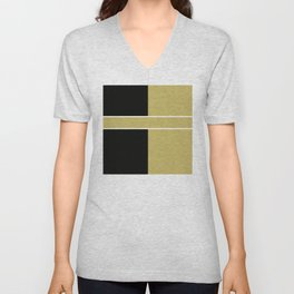 Team Color 6...black,gold Unisex V-Neck