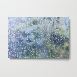 Soft Summer Rain Metal Print