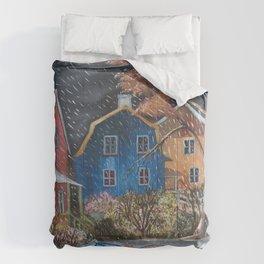 Diane L - Grisaille d'automne Comforters