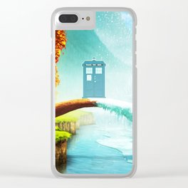 Tardis Season Clear iPhone Case