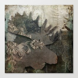 Gothic Forest Moose Canvas Print