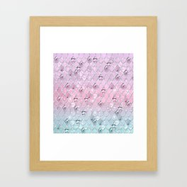 Mermaid Princess Glitter Scales #1 #shiny #pastel #decor #art #society6 Framed Art Print