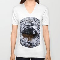 ice V-neck T-shirts featuring Ice by Rose Etiennette