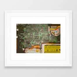 Computer Pin-Up Framed Art Print