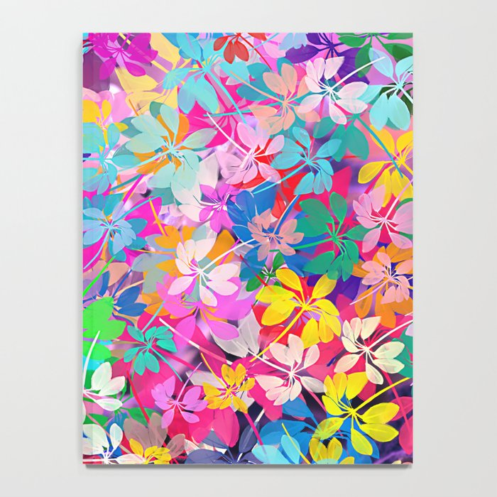 Floral abstract 47 Notebook