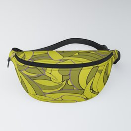 Dark Lemon Yellow Abstract Background Fanny Pack