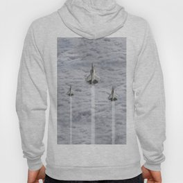F22 Stealth Fighters Climbing in Clouds Hoody