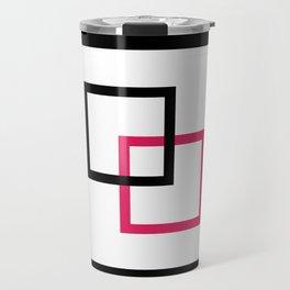 Minimalist squares interlocked Travel Mug