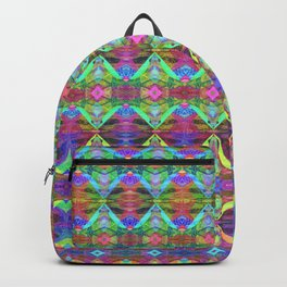 DNA Neon Helix Abstract Pattern Backpack
