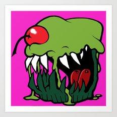 zombie cupcake Art Print