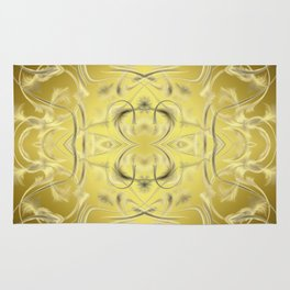 silver and gold Digital pattern with circles and fractals artfully colored design for house Rug
