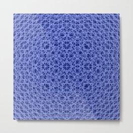 Blue Pattern (II) Metal Print