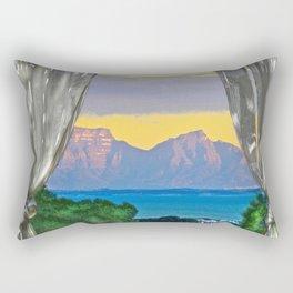 Open Window Sunrise False Bay Rectangular Pillow