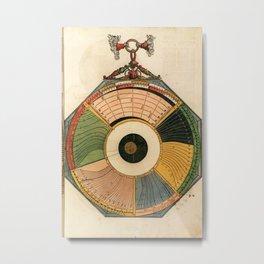 Peter Apian - Astronomicum Caesareum 1540 - Plate 26 Illustration of Eclipses Metal Print