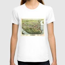 Bird's Eye View of Holyoke, Massachusetts (1877) T-shirt