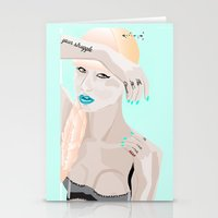 iggy Stationery Cards featuring Iggy Iggy Iggy. Oi Oi Oi. by un'style'dDESIGNS