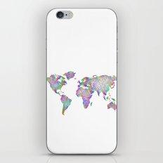World map - woven iPhone & iPod Skin