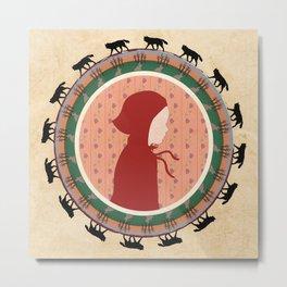 Circle Stories - Red Riding Hood Metal Print