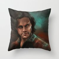 sam smith Throw Pillows featuring Sam by charlotvanh
