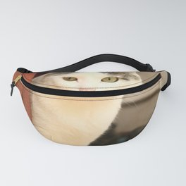 Siberian Cat On Cottage House Porc Fanny Pack
