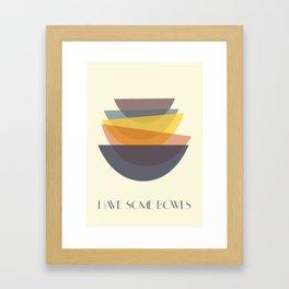 Have some bowls Framed Art Print