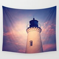 lighthouse Wall Tapestries featuring Lighthouse by JMcCool