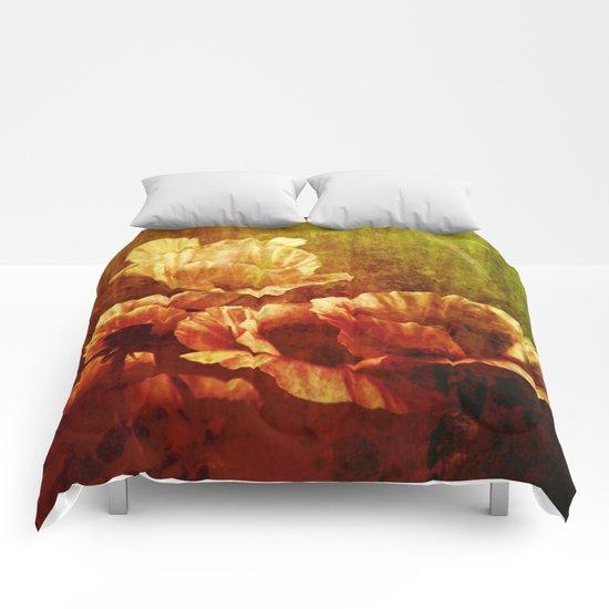 vintage poppies Comforters