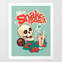 shakespeare Art Prints featuring Milk Shakespeare by Draco