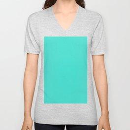 (Turquoise) Unisex V-Neck
