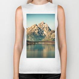 Mountain Lake Escape Biker Tank