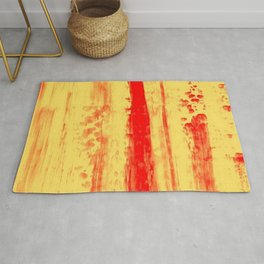 Gerhard Richter Inspired Abstract Urban Rain 3 Rug