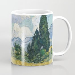 Wheat Field with Cypresses by Vincent van Gogh Coffee Mug