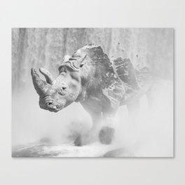 Rhino Photography | Animal |  Landscape | Abstract | Niagara Falls | Nature | Black and White Canvas Print