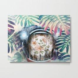 Floral Astronaut Metal Print