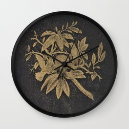 Antiquarian Birds Wall Clock