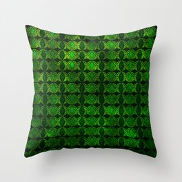 Emerald Arches Throw Pillow