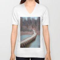 michigan V-neck T-shirts featuring Michigan by Ziggy Photography