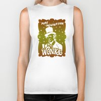 willy wonka Biker Tanks featuring Gold Ticket by Buby87