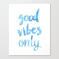 good vibes only Canvas Prints featuring Good Vibes Only Sky by Good vibes and coffee