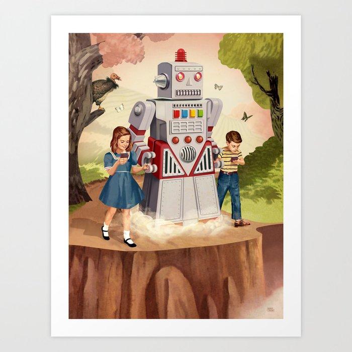 Technology Leading the Way Art Print