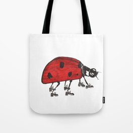 Ladybug Wearing Tap Shoes Gotta Dance Tote Bag