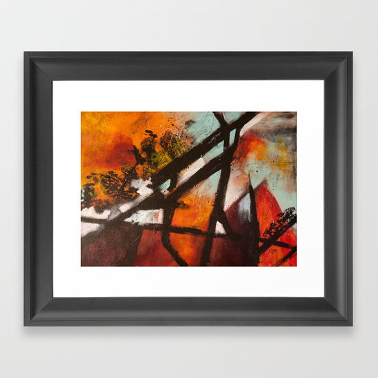 Tourist Attractions Framed Art Print