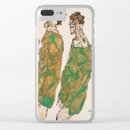 """Egon Schiele """"Devotion"""" Clear iPhone Case"""