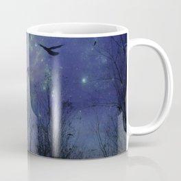 Celestial Night Of Crows Coffee Mug