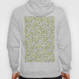 Watercolor Olive Branches Pattern Hoody